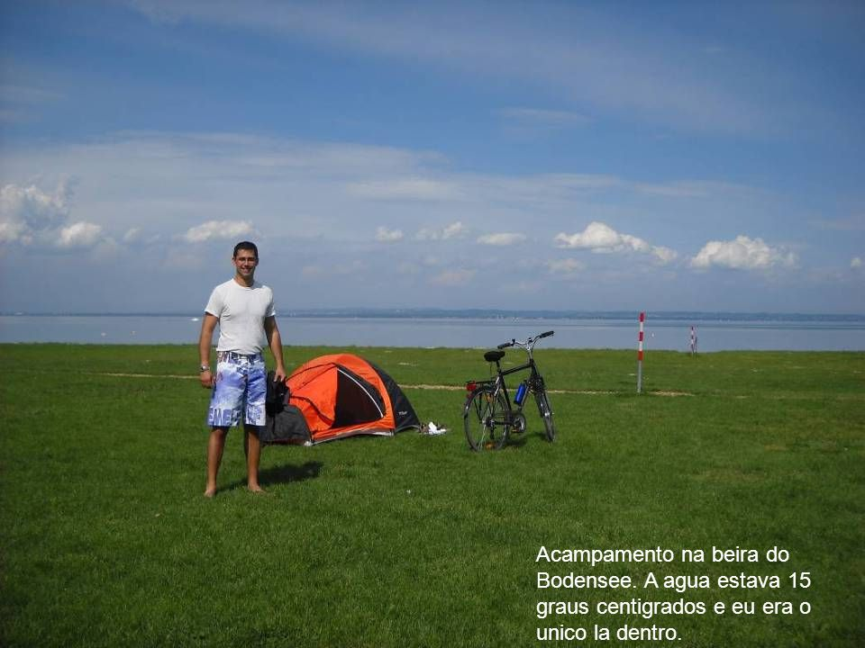 Acampamento na beira do Bodensee