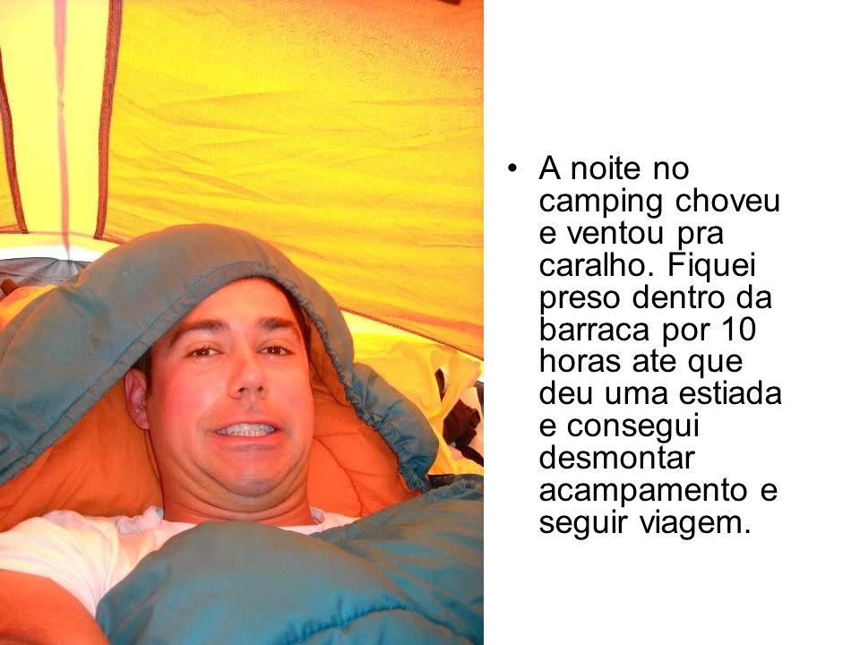 A noite no camping choveu e ventou pra caralho