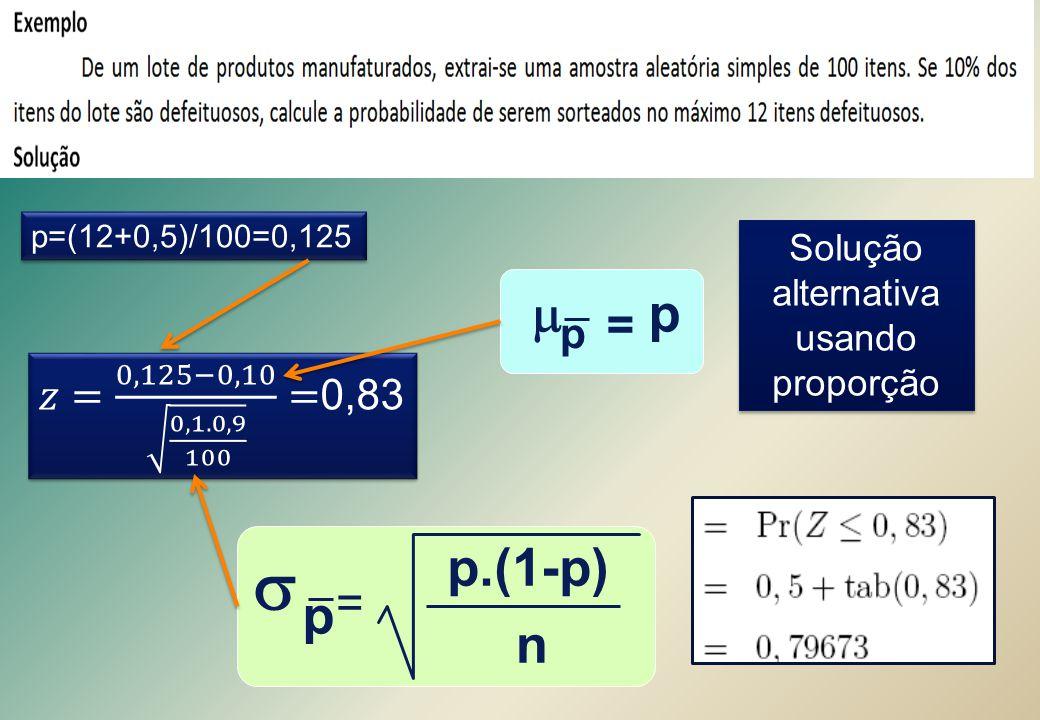 Solução alternativa usando proporção