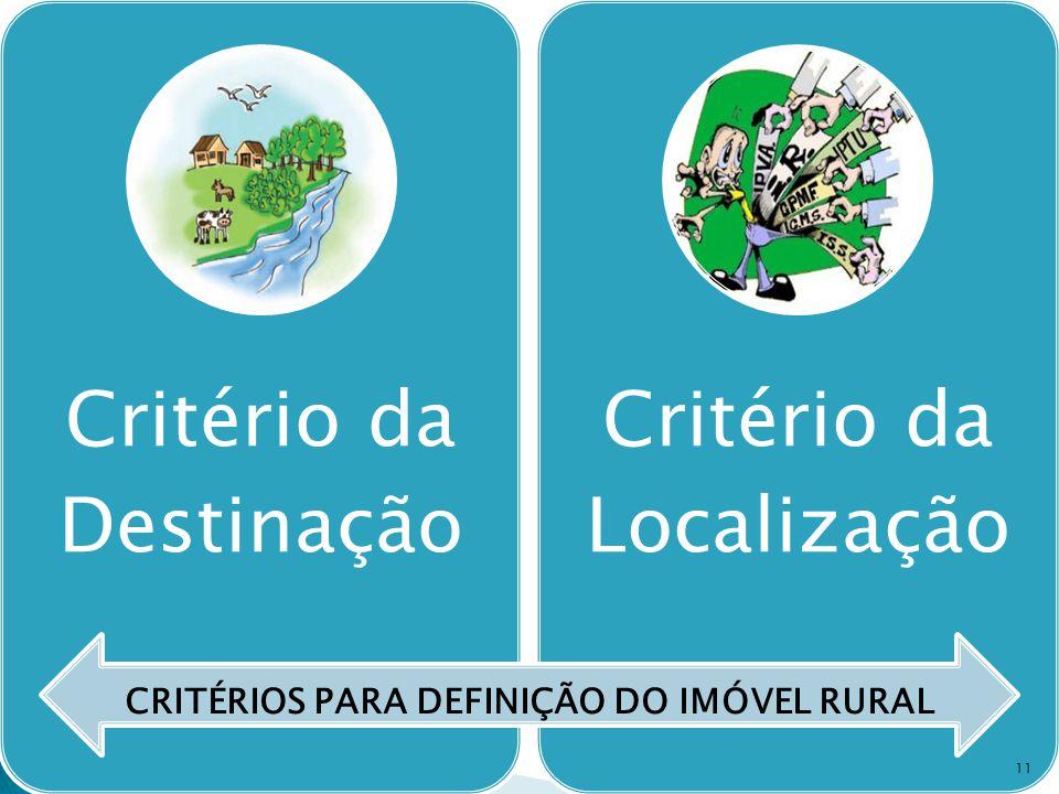 CRITÉRIOS PARA DEFINIÇÃO DO IMÓVEL RURAL