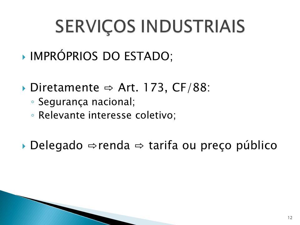 SERVIÇOS INDUSTRIAIS IMPRÓPRIOS DO ESTADO;
