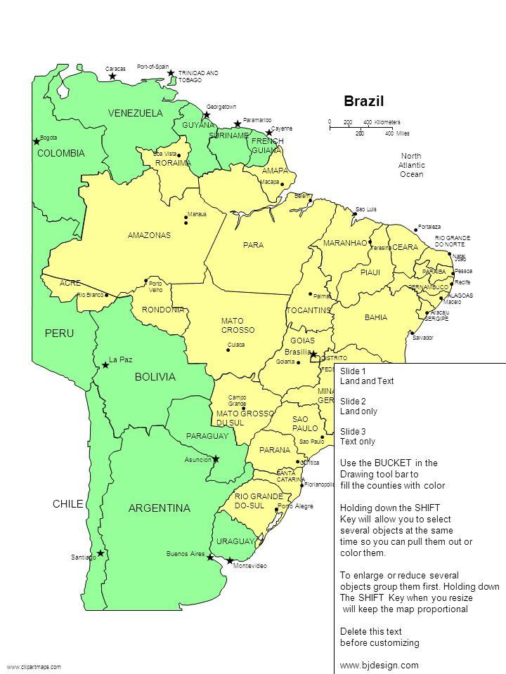 Brazil PERU BOLIVIA CHILE ARGENTINA VENEZUELA COLOMBIA