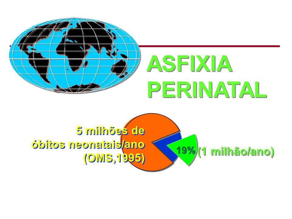 ASFIXIA PERINATAL 5 milhões de óbitos neonatais/ano (OMS,1995)