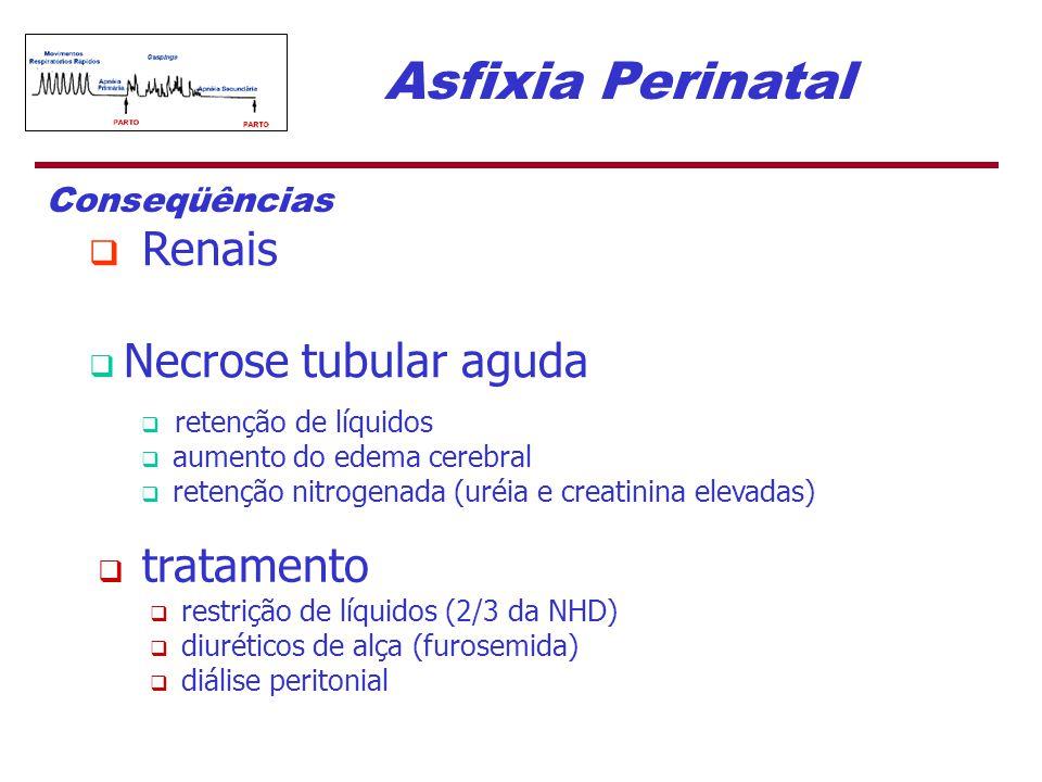 Asfixia Perinatal Conseqüências Renais Necrose tubular aguda