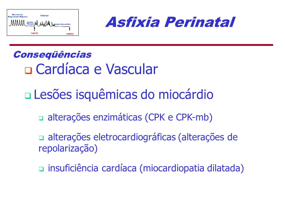 Asfixia Perinatal Conseqüências Cardíaca e Vascular