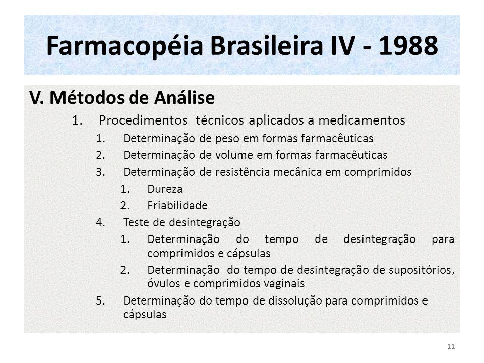 Farmacopéia Brasileira IV - 1988