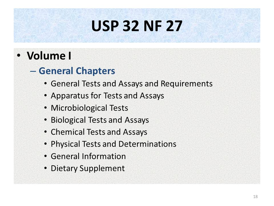 USP 32 NF 27 Volume I General Chapters