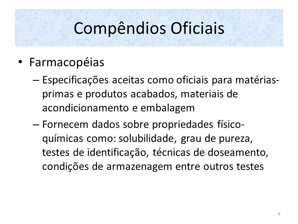Compêndios Oficiais Farmacopéias