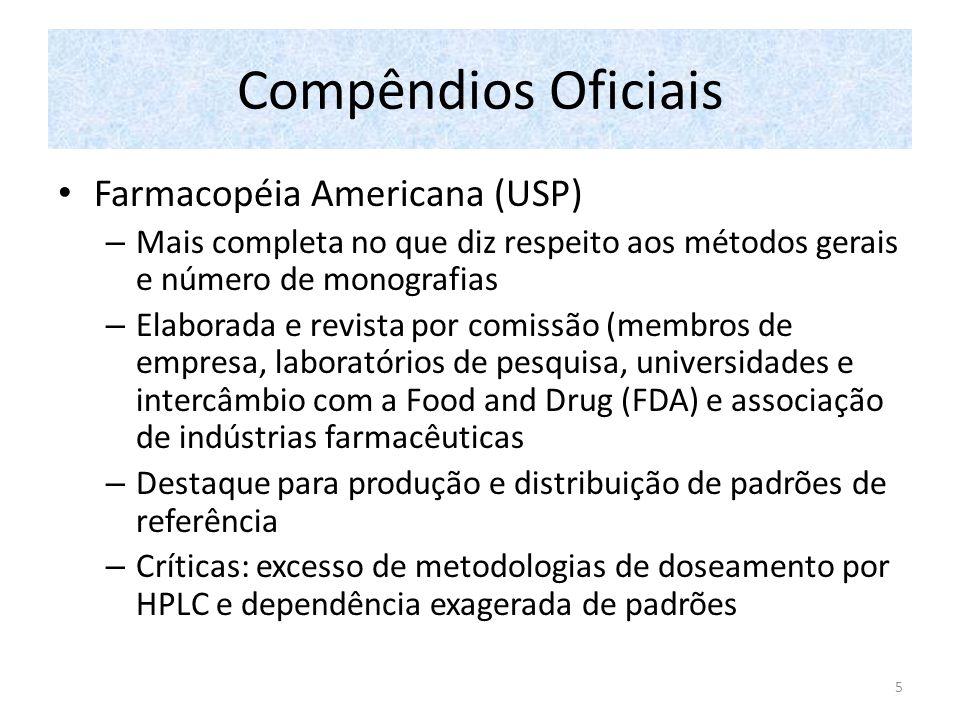 Compêndios Oficiais Farmacopéia Americana (USP)