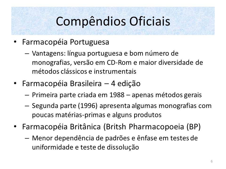 Compêndios Oficiais Farmacopéia Portuguesa