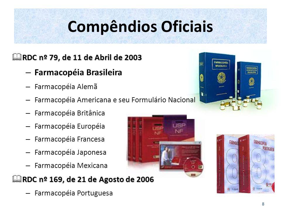 Compêndios Oficiais Farmacopéia Brasileira