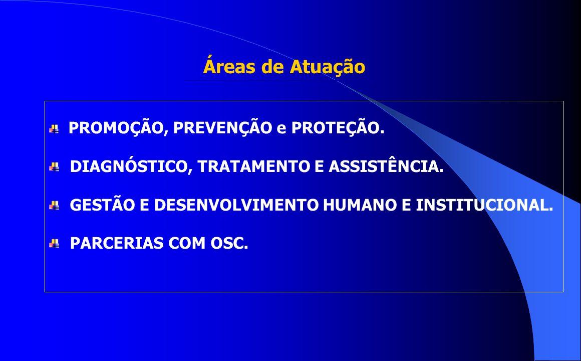 Áreas de Atuação DIAGNÓSTICO, TRATAMENTO E ASSISTÊNCIA.