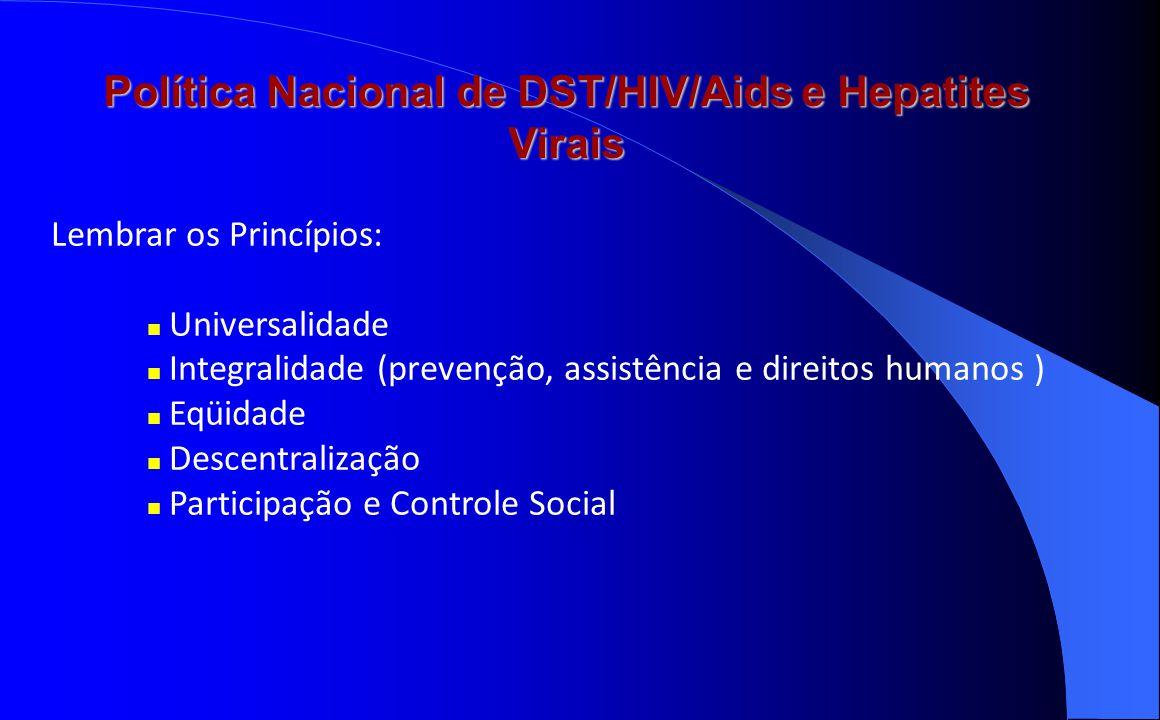 Política Nacional de DST/HIV/Aids e Hepatites Virais