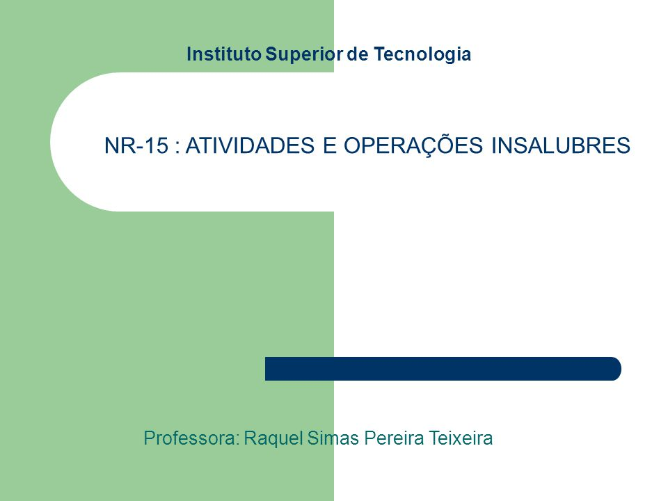 Instituto Superior de Tecnologia