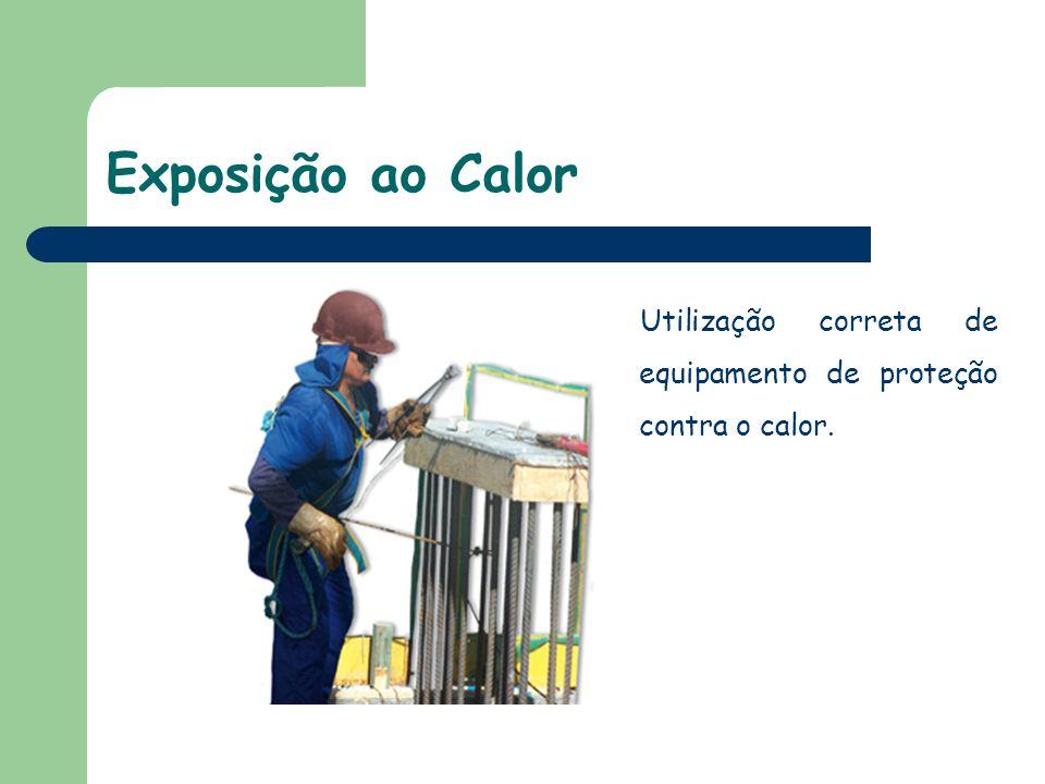 Exposição ao Calor Utilização correta de equipamento de proteção contra o calor. 35
