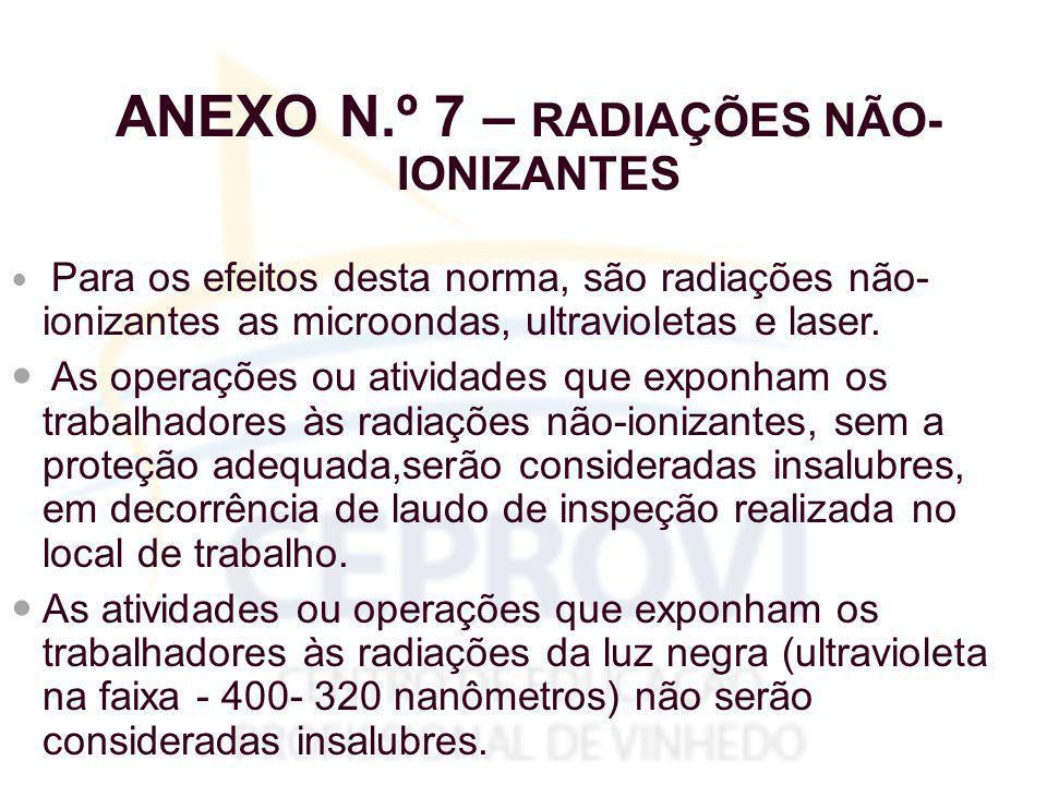 ANEXO N.º 7 – RADIAÇÕES NÃO-IONIZANTES