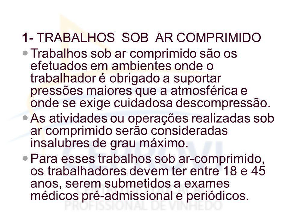 1- TRABALHOS SOB AR COMPRIMIDO