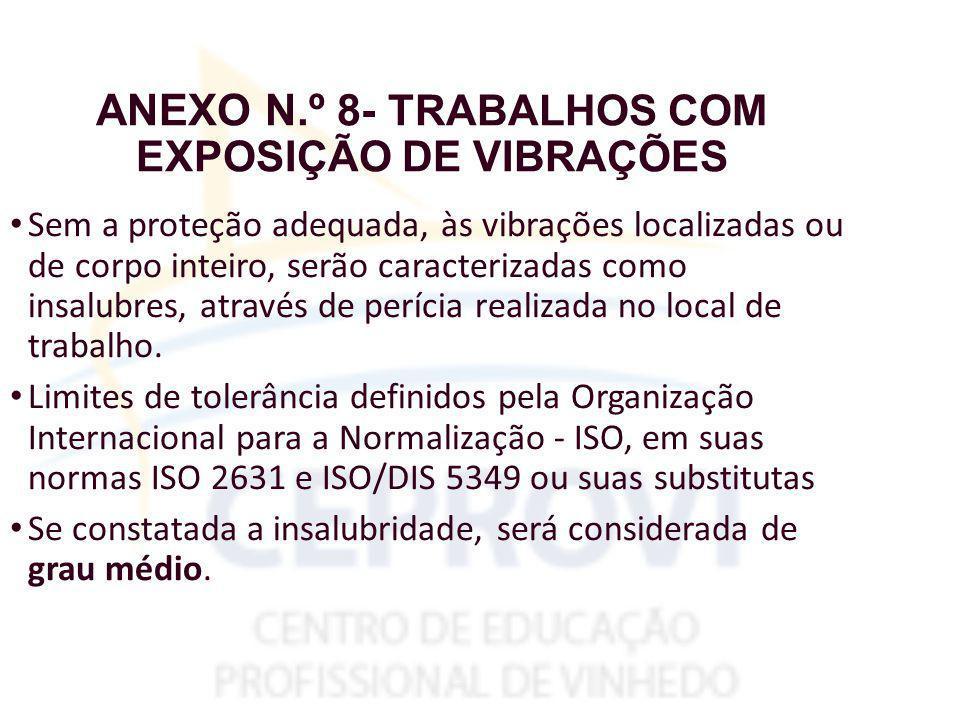 ANEXO N.º 8- TRABALHOS COM EXPOSIÇÃO DE VIBRAÇÕES