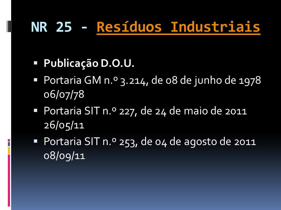 NR 25 - Resíduos Industriais