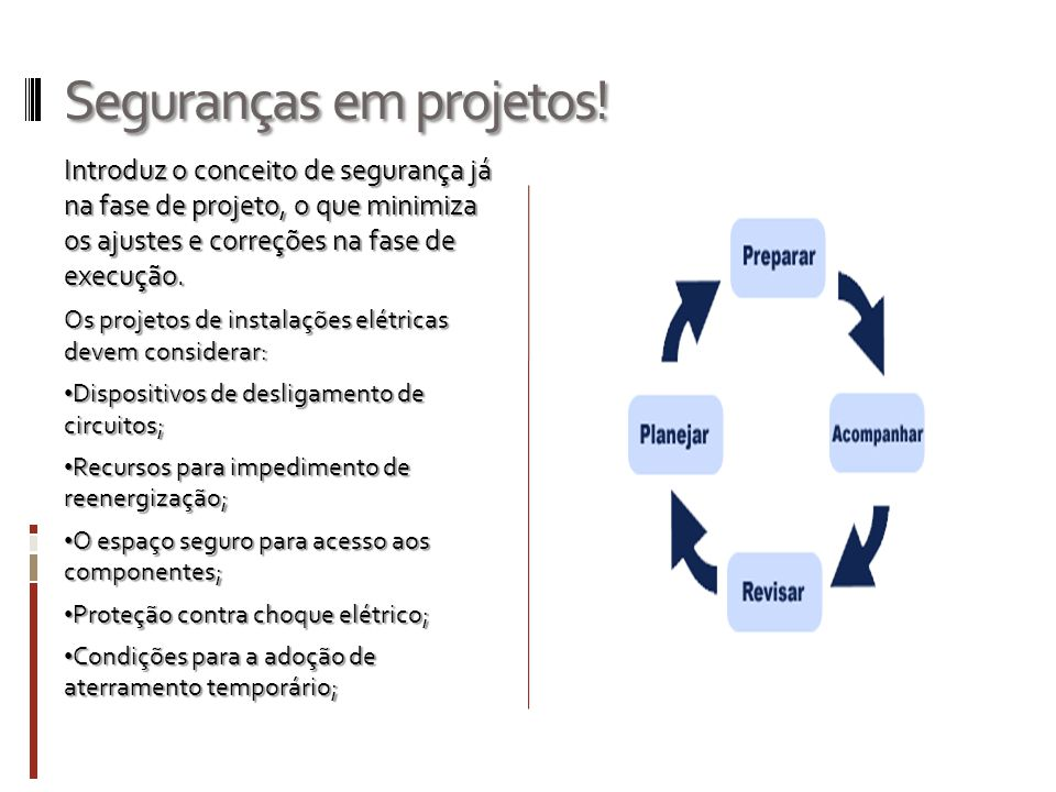 Seguranças em projetos!