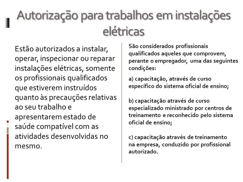 Autorização para trabalhos em instalações elétricas