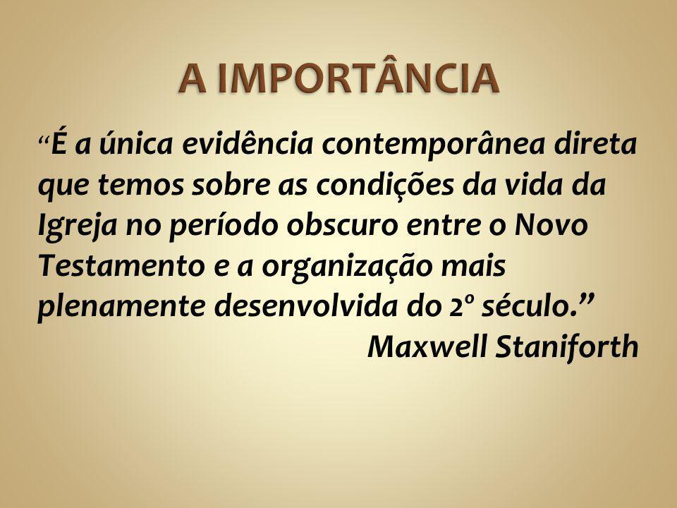 A IMPORTÂNCIA Maxwell Staniforth