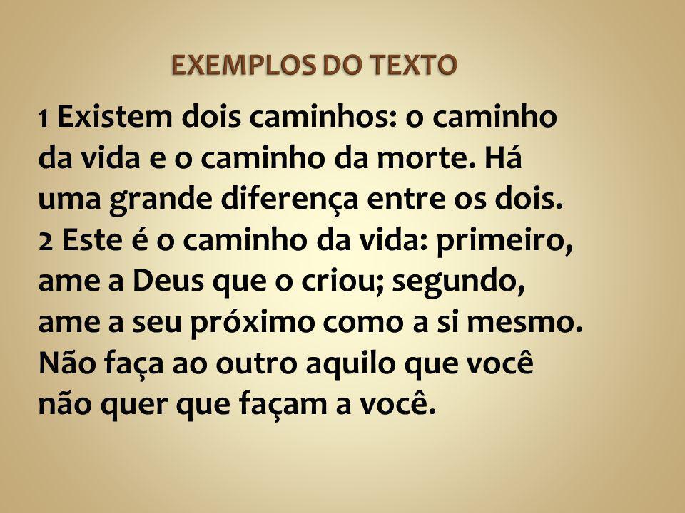 EXEMPLOS DO TEXTO