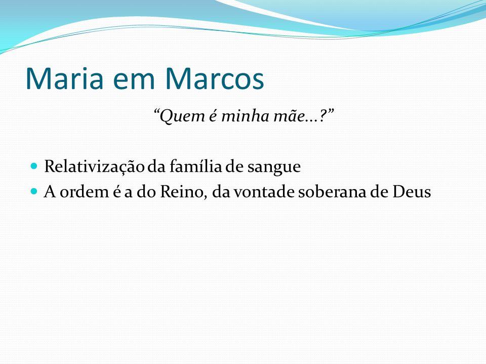 Maria em Marcos Quem é minha mãe...