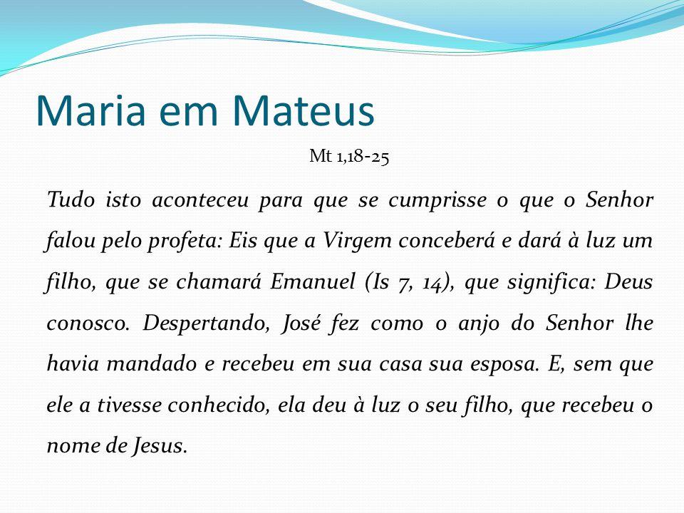 Maria em Mateus Mt 1,18-25.