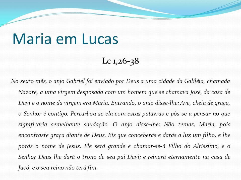 Maria em Lucas Lc 1,26-38.