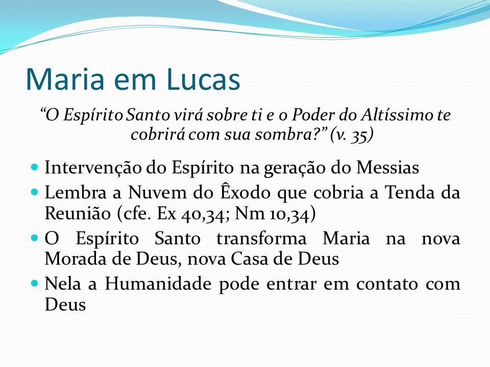 Maria em Lucas Intervenção do Espírito na geração do Messias