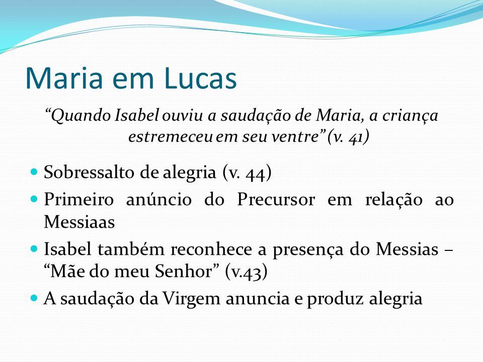 Maria em Lucas Sobressalto de alegria (v. 44)