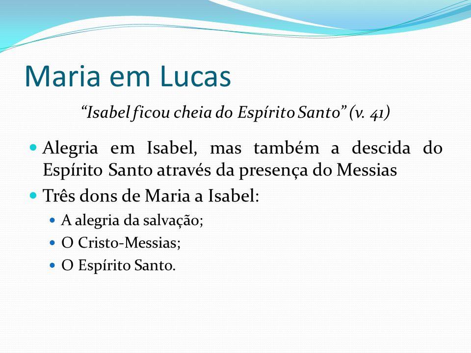 Isabel ficou cheia do Espírito Santo (v. 41)