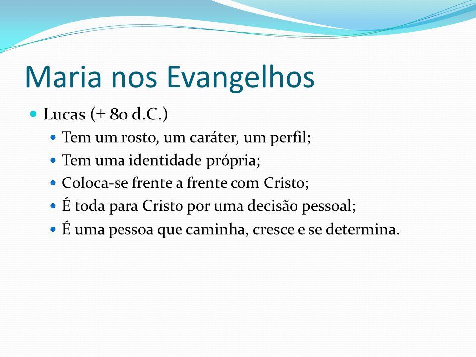 Maria nos Evangelhos Lucas ( 80 d.C.)
