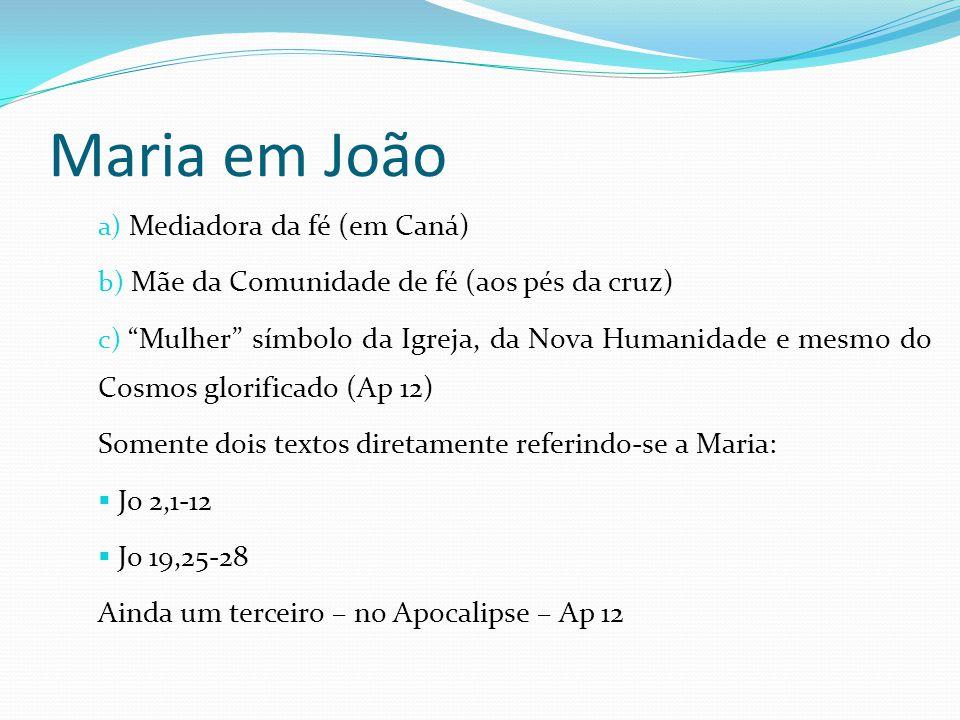 Maria em João Mediadora da fé (em Caná)