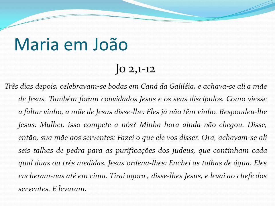Maria em João Jo 2,1-12.