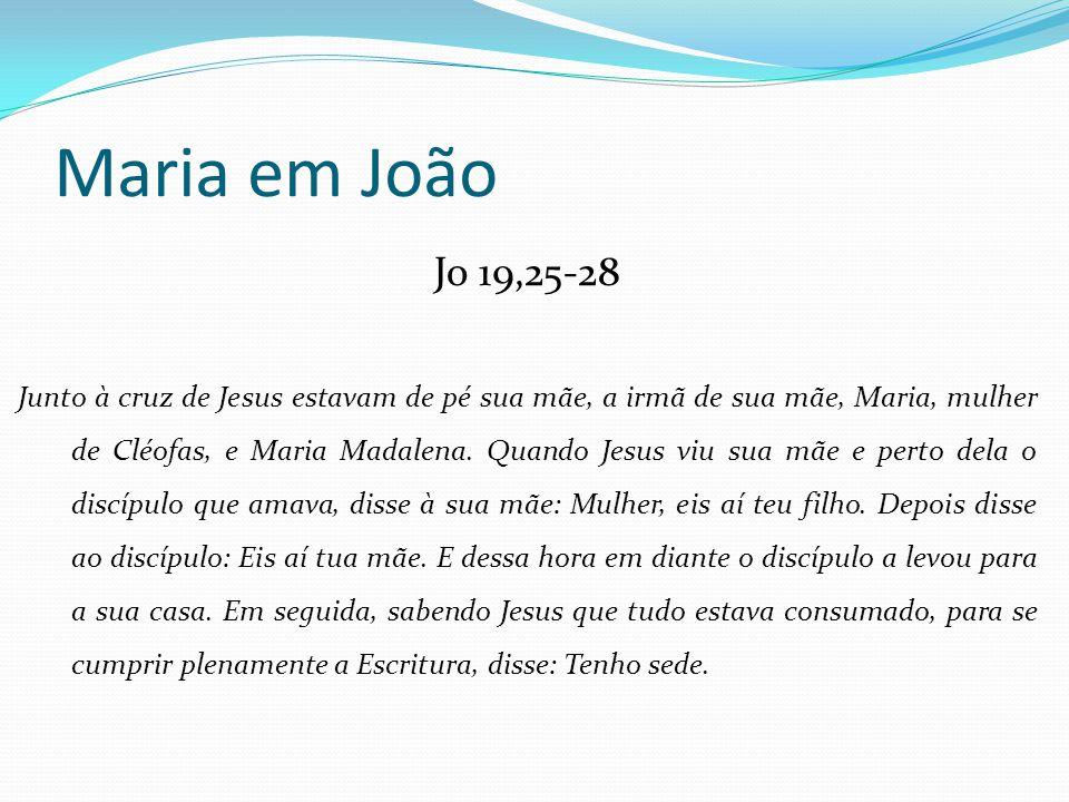 Maria em João Jo 19,25-28.