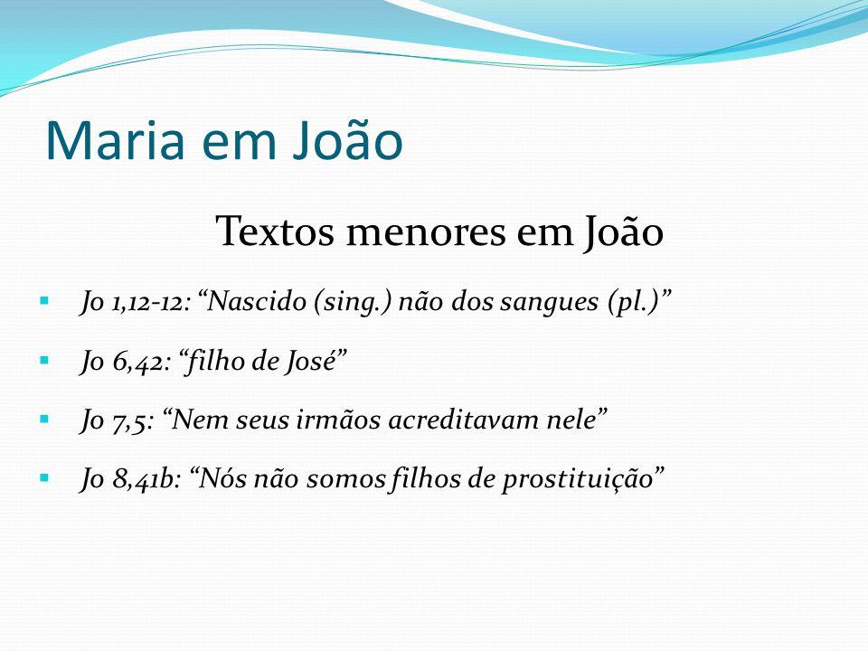Maria em João Textos menores em João