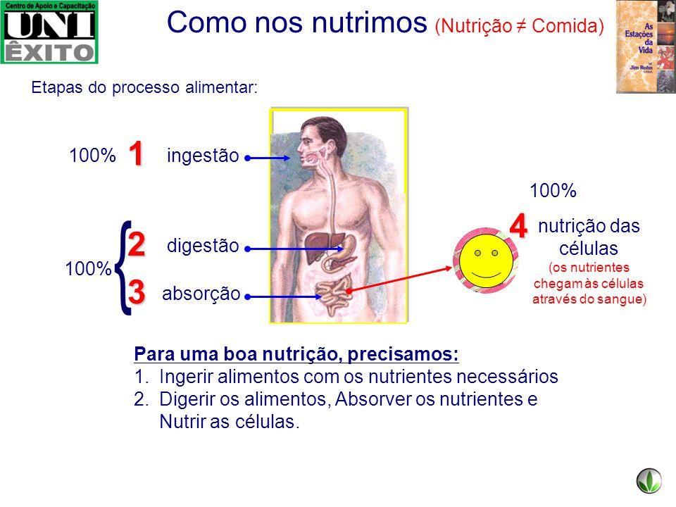 (os nutrientes chegam às células através do sangue)
