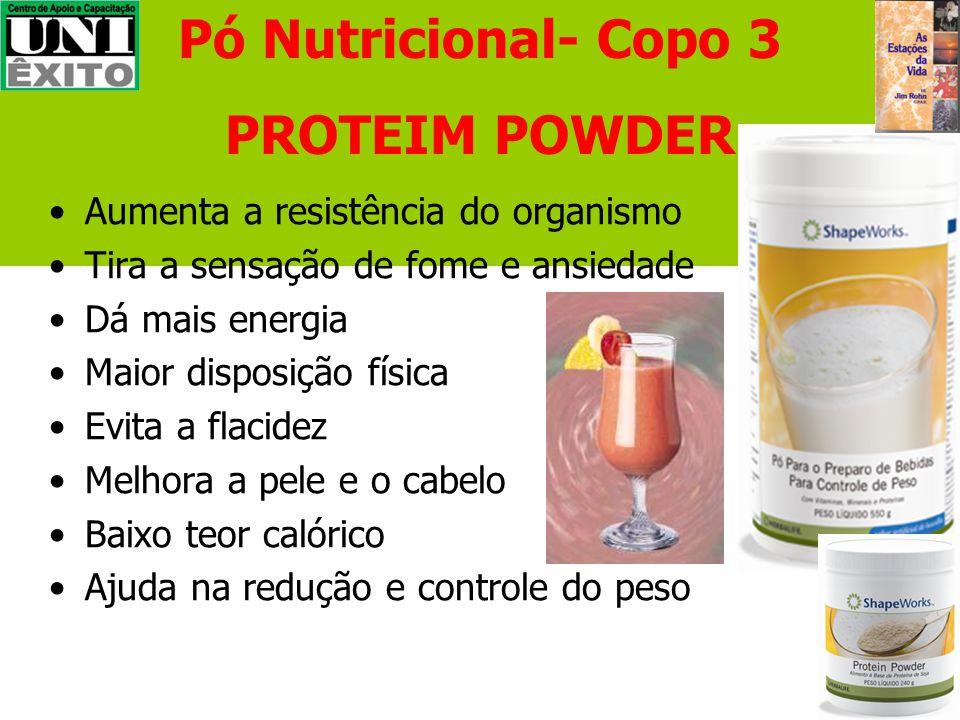 Pó Nutricional- Copo 3 PROTEIM POWDER