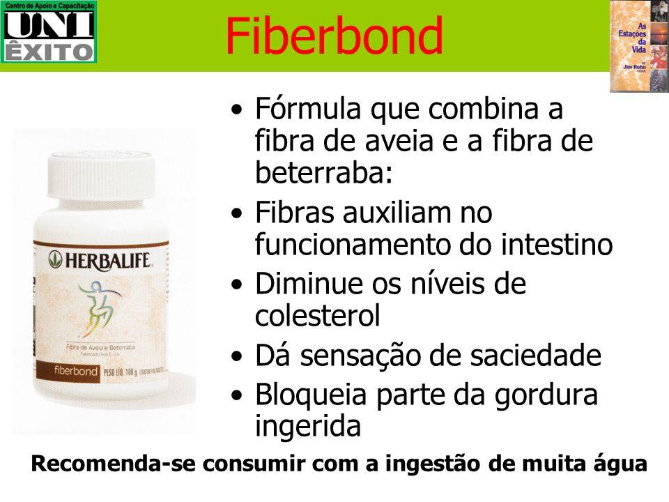 Fiberbond Fórmula que combina a fibra de aveia e a fibra de beterraba: