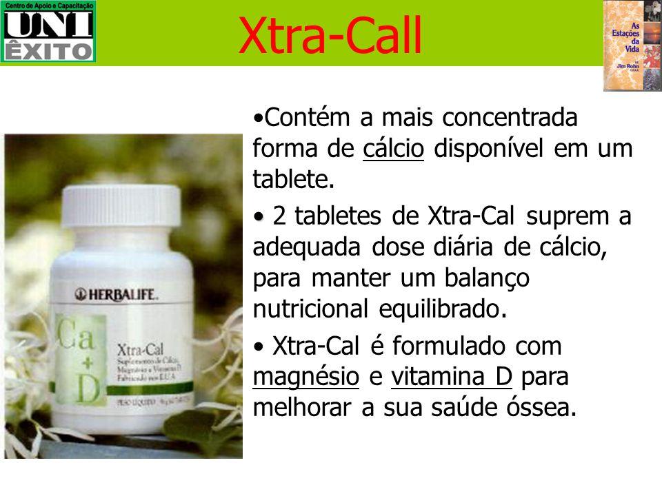 Xtra-Call Contém a mais concentrada forma de cálcio disponível em um tablete.