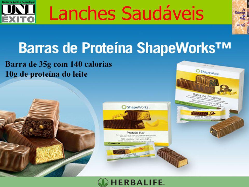 Lanches Saudáveis Barra de 35g com 140 calorias