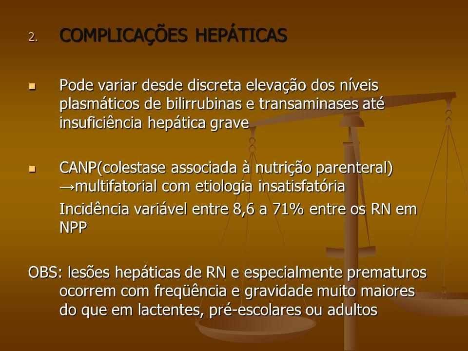 COMPLICAÇÕES HEPÁTICAS