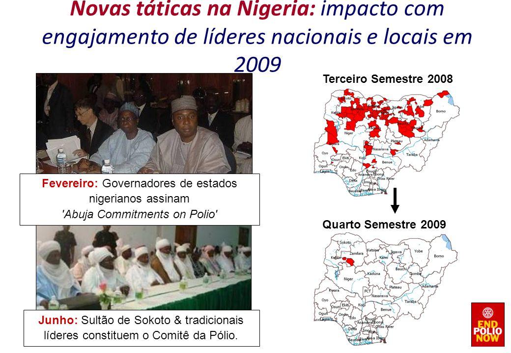 Novas táticas na Nigeria: impacto com engajamento de líderes nacionais e locais em 2009