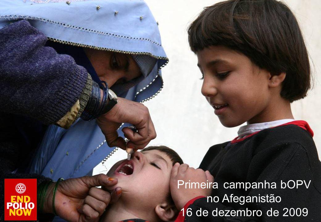 Primeira campanha bOPV no Afeganistão