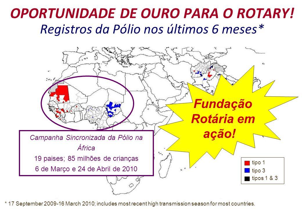 OPORTUNIDADE DE OURO PARA O ROTARY