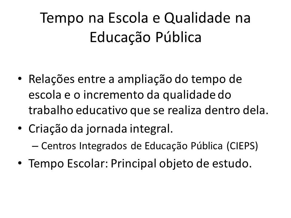 Tempo na Escola e Qualidade na Educação Pública