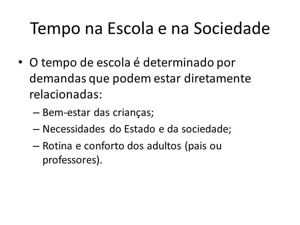 Tempo na Escola e na Sociedade