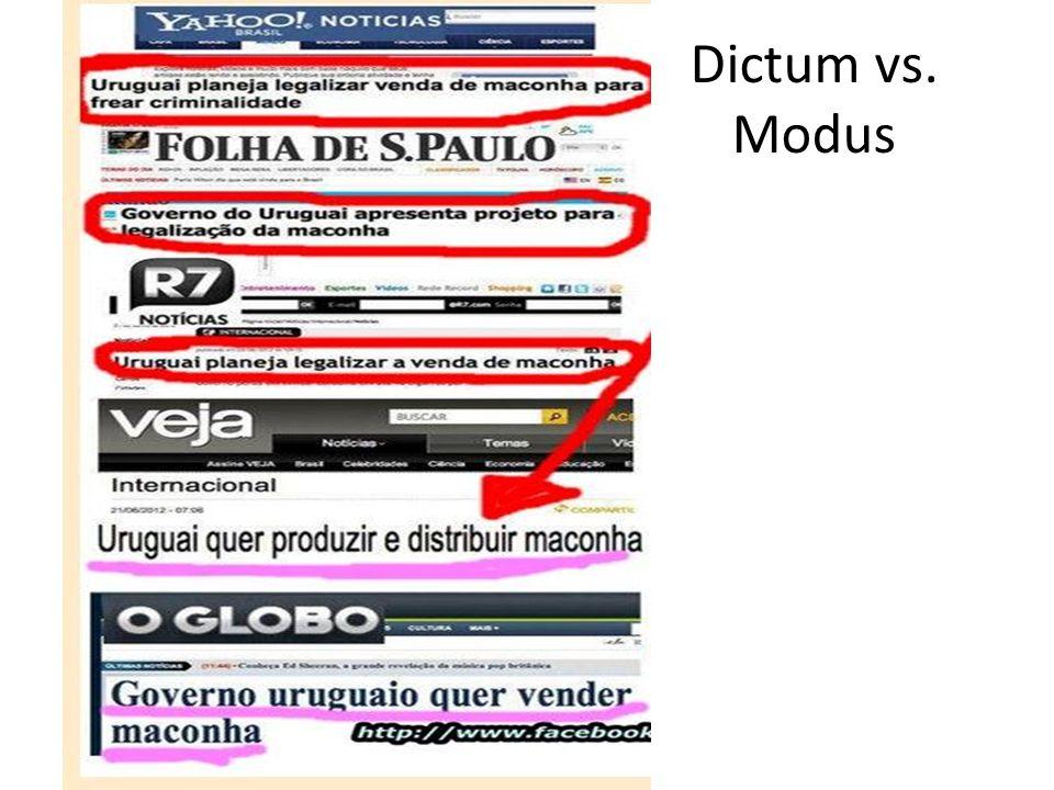Dictum vs. Modus